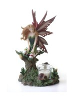 Dark Green Fairy Candle Holder