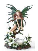 Green Fairy Candle Holder