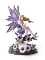 Purple Fairy Candle Holder