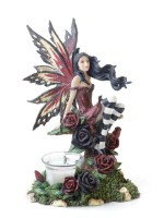 Red Fairy Candle Holder