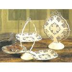 Ivory Diamond Lattice Dessert Server