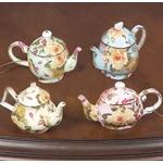 Newport Rose Teapot Ornaments