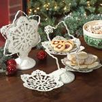 Pierced Snowflake Star Dessert Server